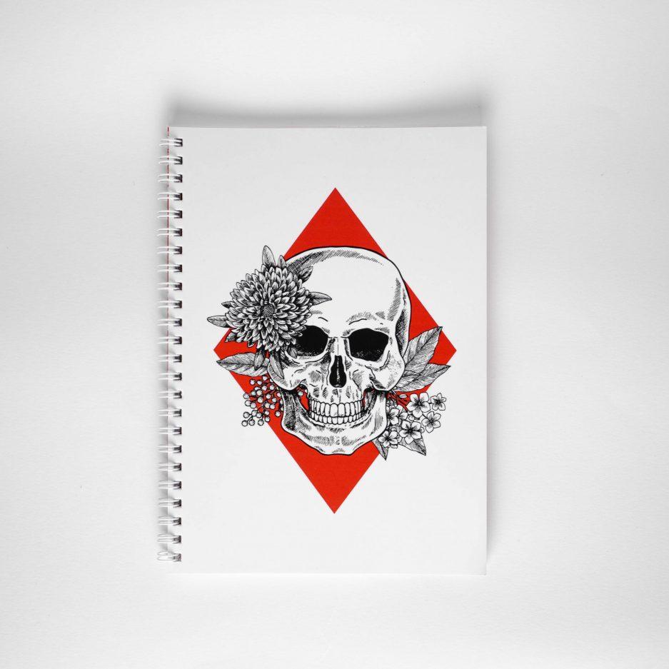 zeszyt z czaszka